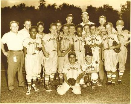 1953 NNLL team on their way to Williamsport, PA; first MA team to ever qualify for World Series