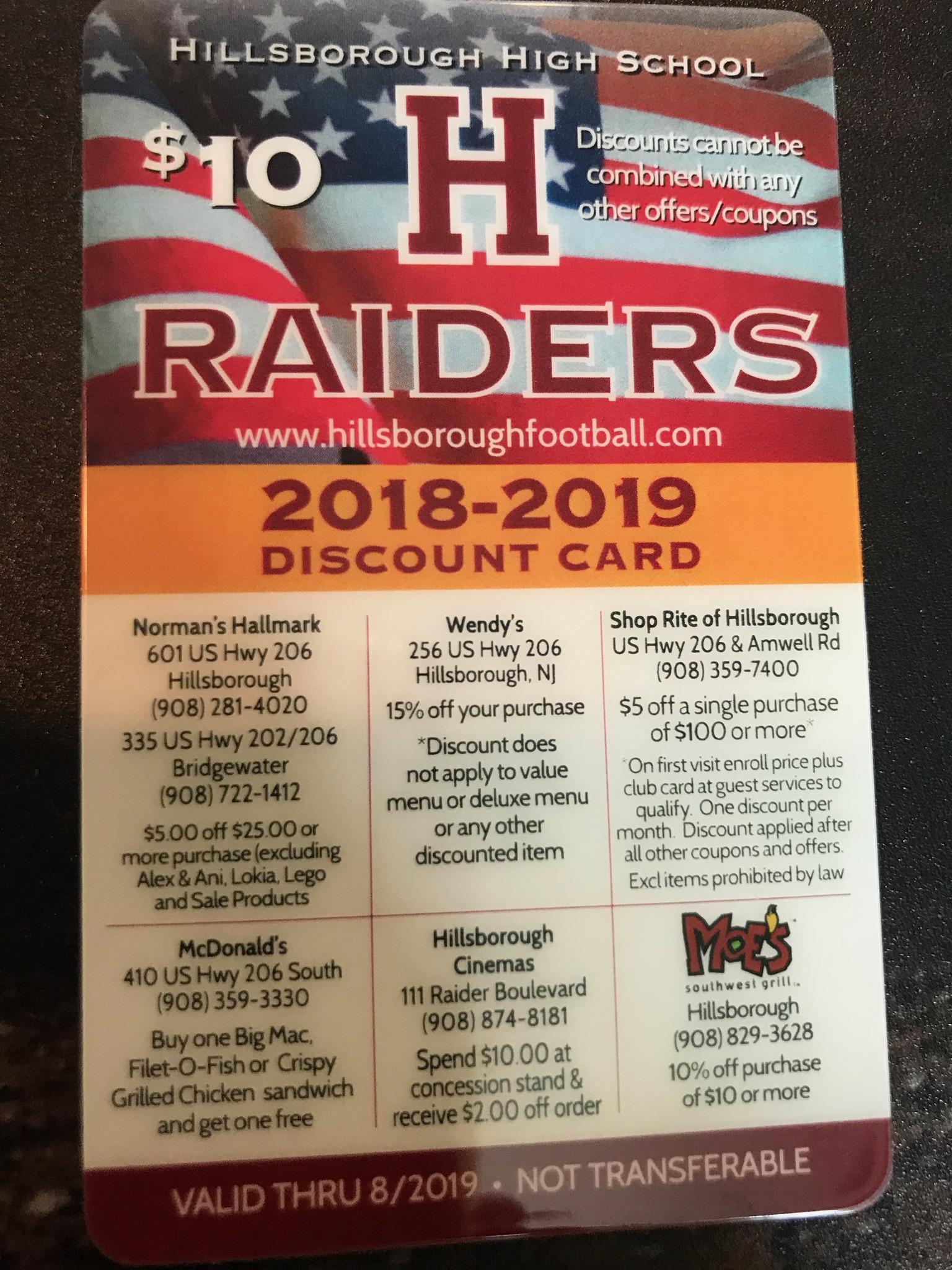 Raider Card Front