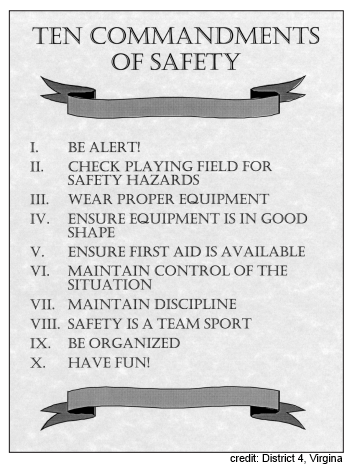 10 Commandments of safety