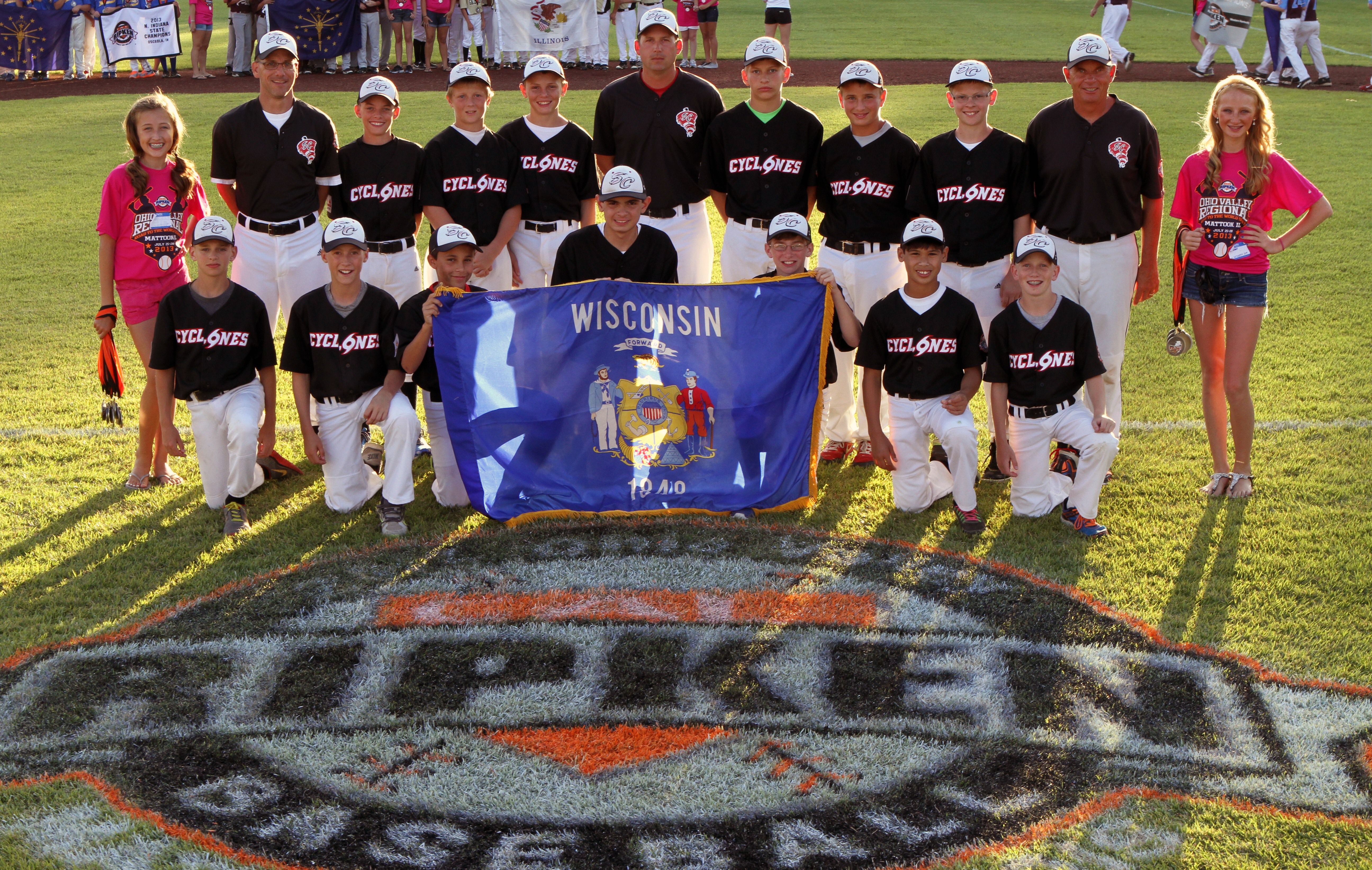 Representing Wisconsin at Cal Ripken Regional Tournament
