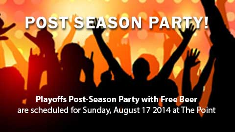 Post Season Party 8-17-14 at The Point