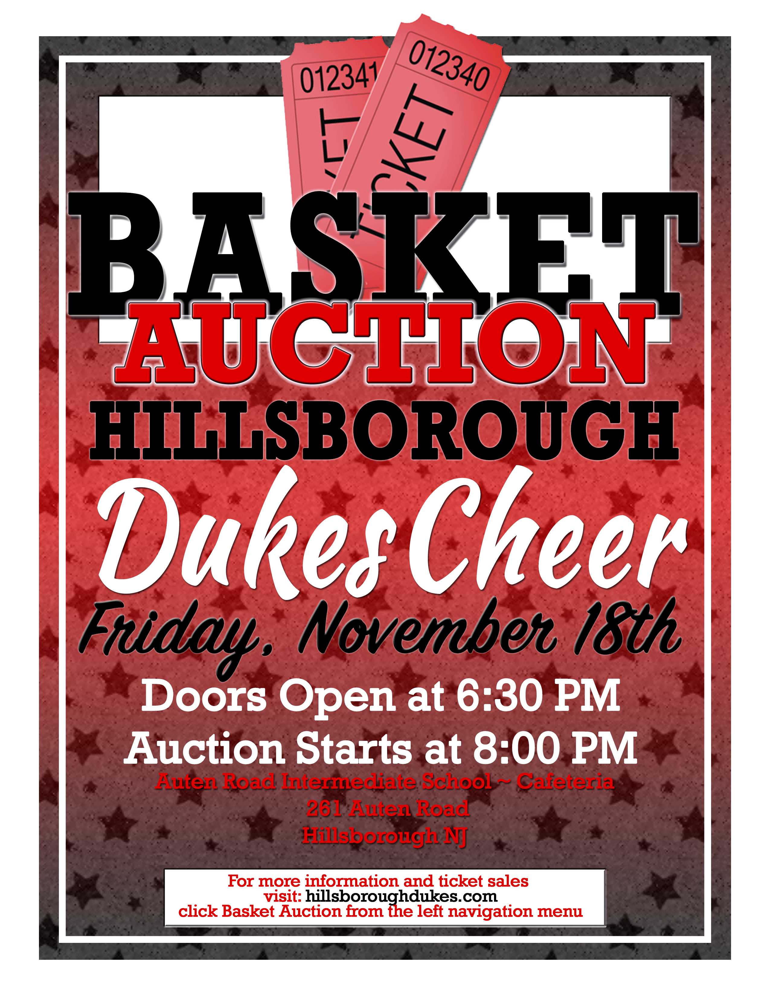 Dukes Cheer Basket Auction