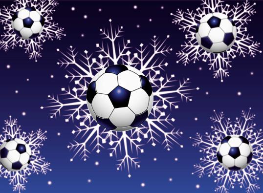 Soccer Snowflakes from Lawrence Hamnett