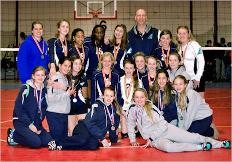South River Volleyball Club - Silver and Gold Champions