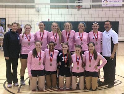 Storm Wins First Place - NVVA Volley Like a Rockstar January 2015