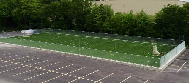 The outdoor turf field at AP Sports