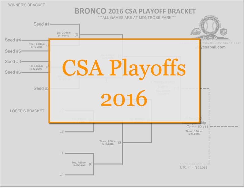 2016 CSA Playoffs