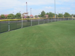 Sportaflex Portable Baseball Fence Outfield View