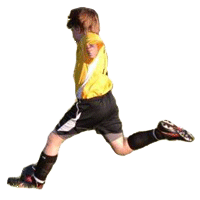 Northern Valley Player Kicking Ball