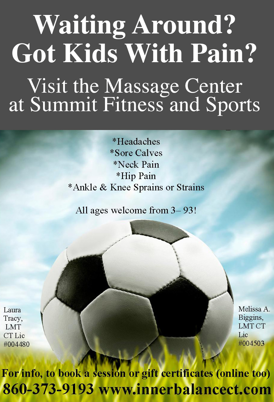 Soccer Massage at Summit Fitness and Sports
