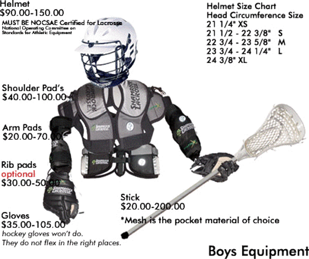 Boys Equipment