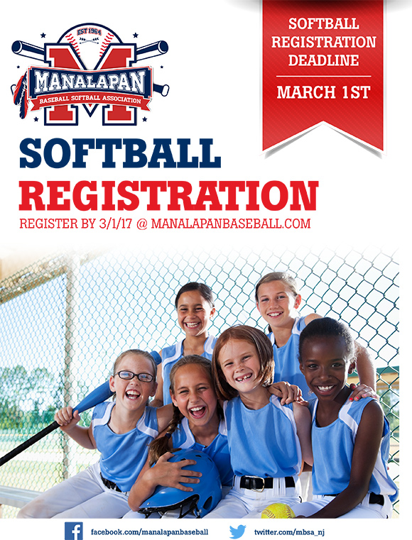 Softball Deadline - 3/1/17