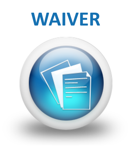 Please click the icon to display and download the waiver form