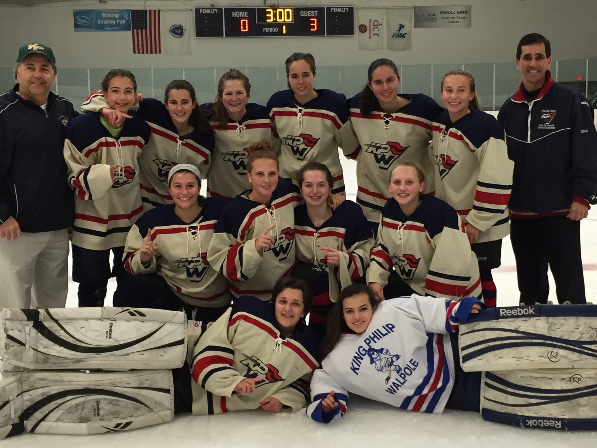 The King Philip Walpole Youth Hockey U19A team captured the South Shore Conference championship