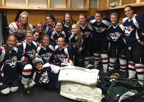 The King Philip Walpole Youth Hockey girls u18A team captured the District 3 championship