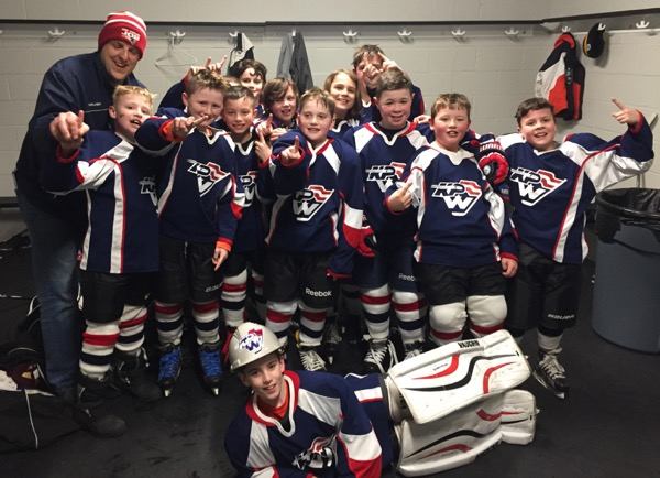 The King Philip Walpole Youth Hockey Squirt B2 White team won the District 3 Tier IV championship