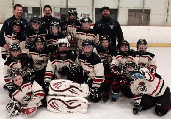The King Philip Walpole Youth Hockey Pee Wee 3 team won the District 3 Tier IV championship
