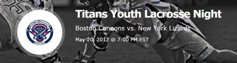 Titans Youth Lacrosse Night at the Cannosn