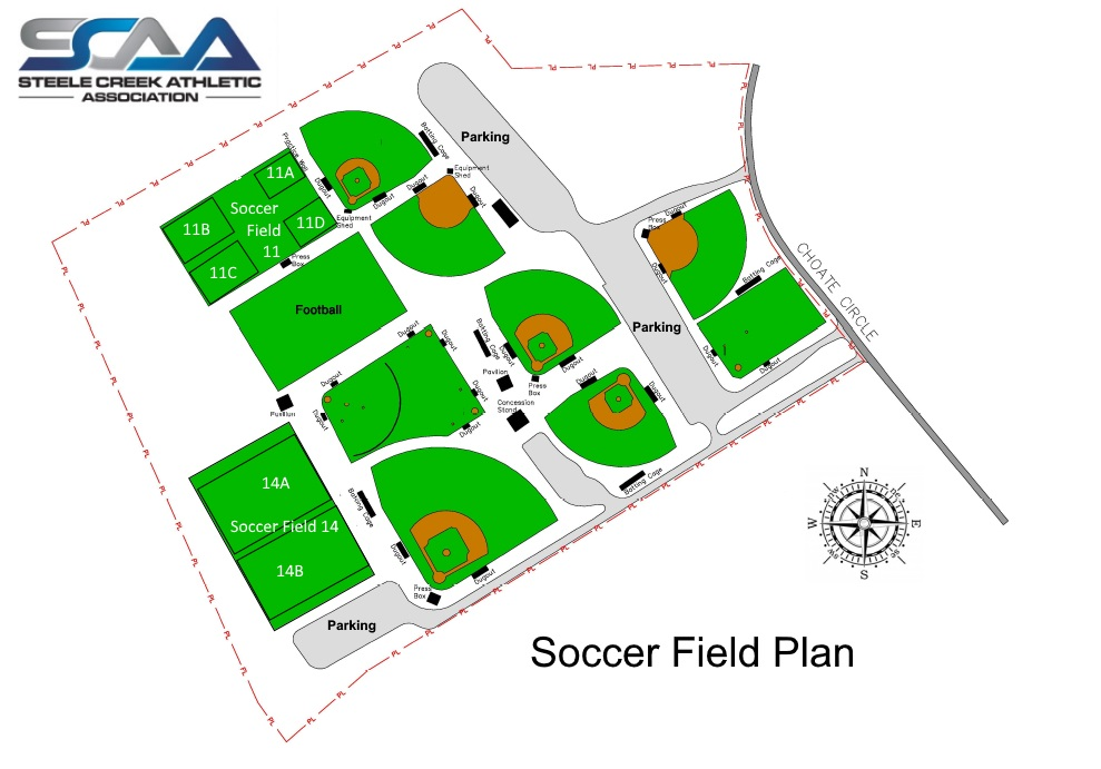 Soccer Field Map