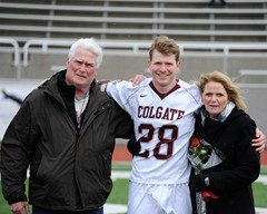 Jim Queeney and parents senior day Colgate