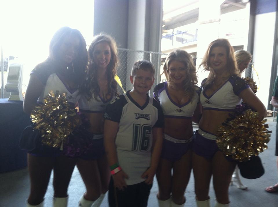 Eagles with Ravens Cheerleaders
