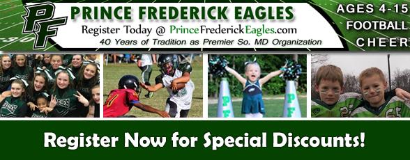 Register Today Prince Frederick Eagles