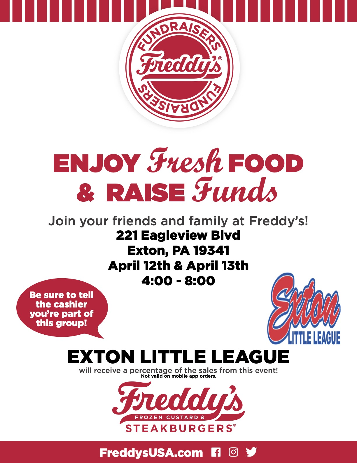 Freddy's ELL Fundraiser Flyer