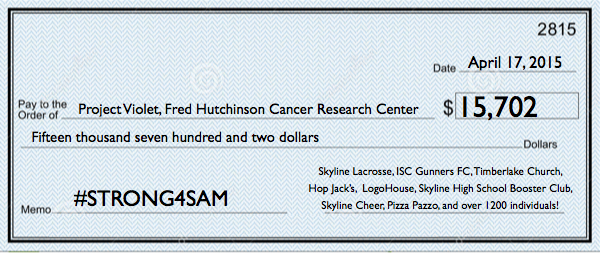 #STRONG4SAM 2.0 raises over $15,700 for Project Violet cancer research