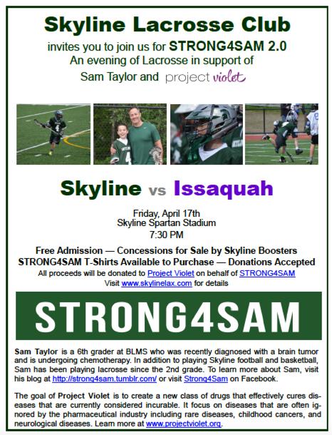 Strong4Sam 2.0 Invite flyer