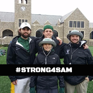 STRONG4SAM and the Skyline Lax coaches in Maryland