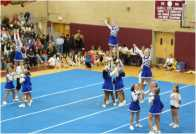 Vernon Vipers Cheerleaders at the CTYFL Cheer Competition