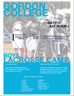 Boys Lacrosse Camp at Gordon College