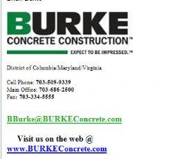 Burke Concrete Construction