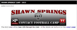 Shawn Springs Camp AYFL