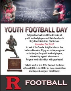 RUTGERS YOUTH FOOTBALL DAY