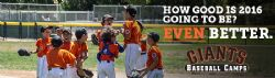 San Francisco Giants youth baseball camps