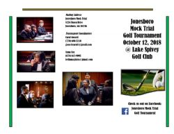 JHS Mock Trial Golf Tournament