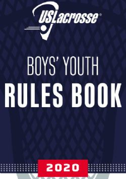 2018 RULES - Boys Youth (14U and below)