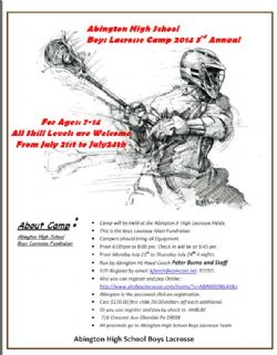 ASHS Boys Lacrosse Camp