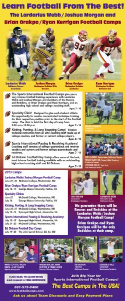 Brian Orakpo/Ryan Kerrigan Football Camp