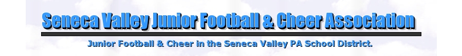 Seneca Valley Junior Football and Cheer Association, Football and Cheer, Touchdown, Field