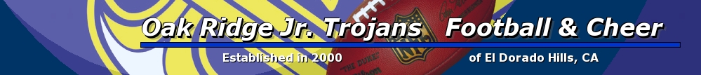 Oak Ridge Jr. Trojans Football & Cheer, Football & Cheer, Point, Field