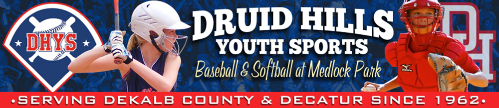 Druid Hills Youth Sports, Baseball, Run, Field