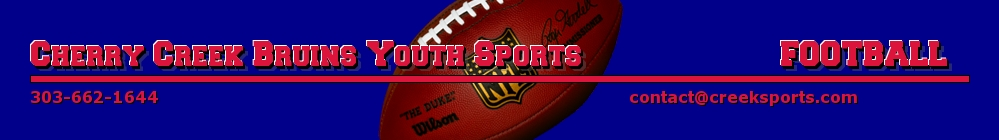 Cherry Creek Youth Sports Bruins Football, Football, Goal, Field