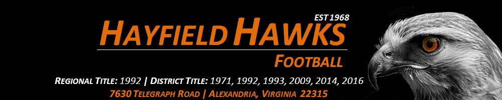 Hayfield High School Hawks Football, Football, Goal, Field