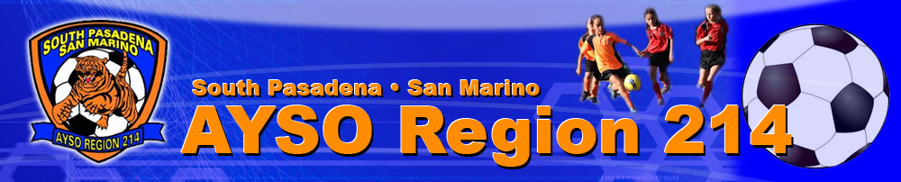 AYSO - Region 214 - South Pasadena  San Marino, Soccer, Goal, Field