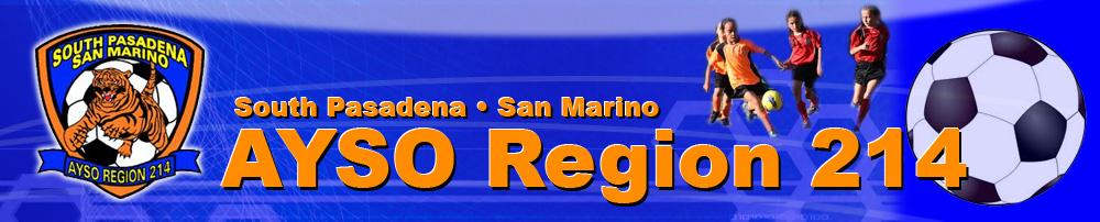AYSO - Region 214 - South Pasadena San Marino, Soccer, Goal, Field