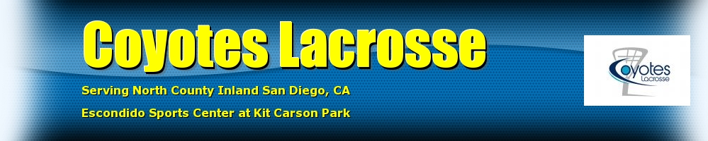 Coyotes Lacrosse  , Lacrosse, Goal, Field