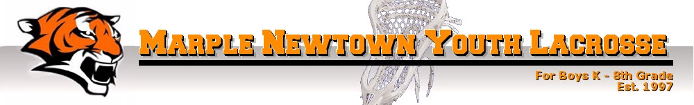 Marple Newtown Youth Lacrosse, Lacrosse, Goal, Field