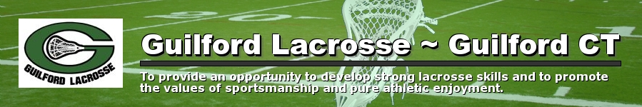 Guilford Lacrosse Association, Lacrosse, Goal, Field